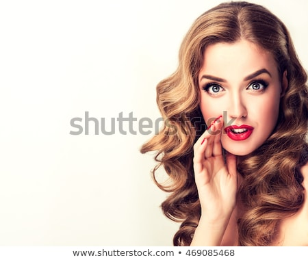Portrait of Funny girl in doubt about something. Stock photo © luckyraccoon