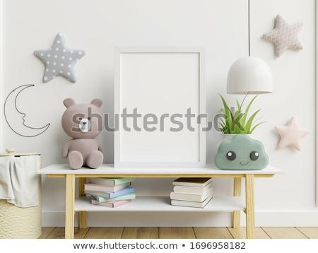 Faiskola illusztráció család lány baba gyermek Stock fotó © adrenalina