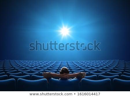 Izleyici beyaz sinema ekran oditoryum Stok fotoğraf © d13