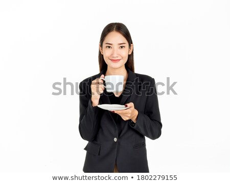 小さな · ビジネス · 幸せ · 興奮した · 勝者 · 女性 - ストックフォト © szefei