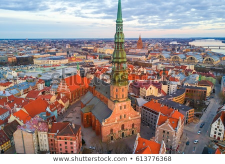 Aerial view of Riga old town Stock photo © 5xinc