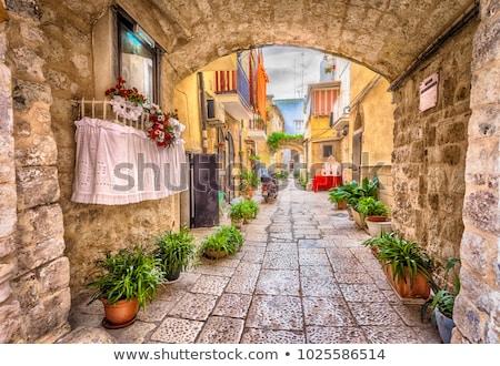 Romantik ev renkli ev mimari Stok fotoğraf © ElaK