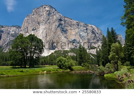 El Capitan Granite Rock Face Merced River Yosemite National Park Stock photo © cboswell