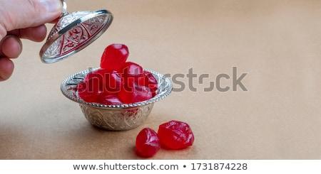 rock · candy · zucchero · cannella · porcellana · piattino - foto d'archivio © cwzahner