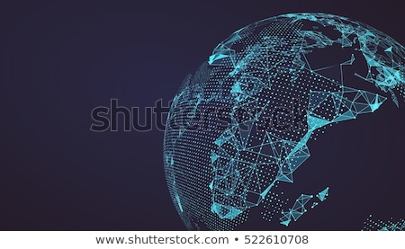 Abstract design with globe. Vector illustration. stock photo © ussr