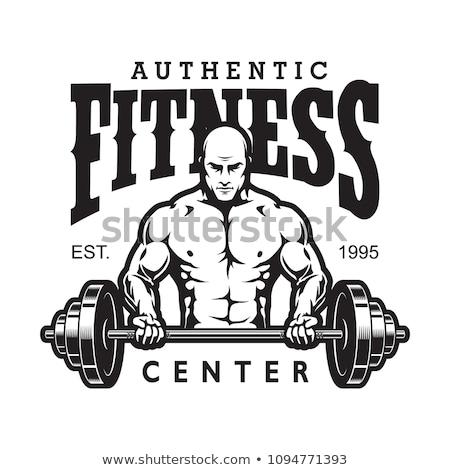 残忍な · トレーニング · ジム · 緊張した · 筋肉の · 男 - ストックフォト © arenacreative