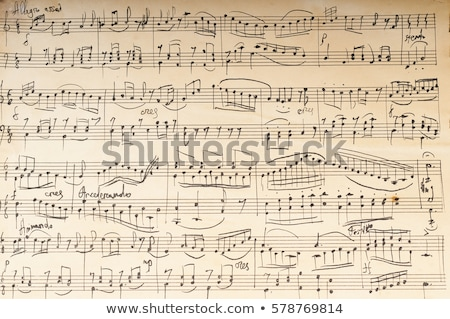 vinatge sheet music Stock photo © Sarkao