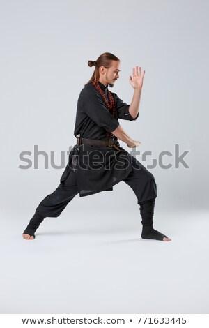 Ninja espada vista lateral ilustração isolado Foto stock © patrimonio