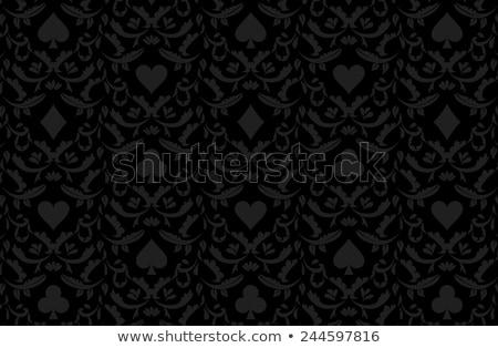 luxury golden poker background with card symbols stock photo © liliwhite