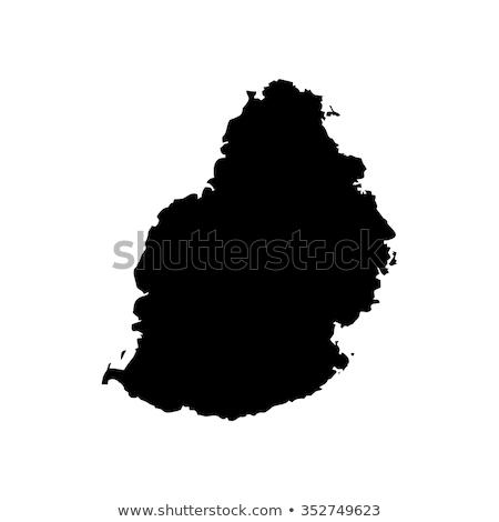 карта Маврикий различный белый Африка Сток-фото © mayboro1964