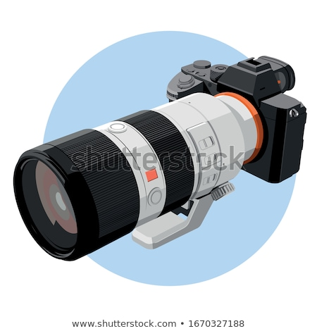 SLR camera simple icon on white background. Stock photo © tkacchuk