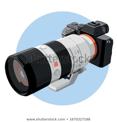 カメラ 単純な アイコン 白 映画 フレーム ストックフォト © tkacchuk