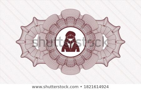 保護された 赤 ベクトル webボタン アイコン ストックフォト © rizwanali3d