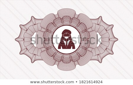 protected circular red vector web button icon stock photo © rizwanali3d