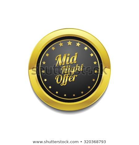 полночь предлагать вектора икона кнопки Сток-фото © rizwanali3d