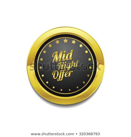 Midnight Offer Golden Vector Icon Button Stock photo © rizwanali3d