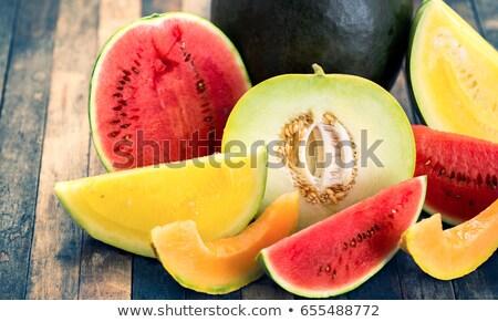 melancia · melão · isolado · branco · fruto · fundo - foto stock © konturvid