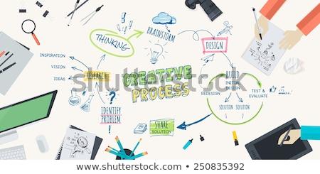 Kreatív terv munkaterület vektor szett tárgyak Stock fotó © -Baks-