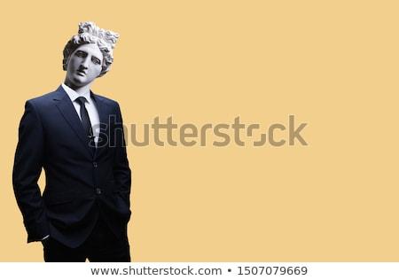 Estátua homem nu harpa mão cidade Foto stock © cla78