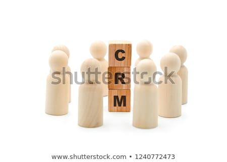 Stock photo: customer wording isolate on white background