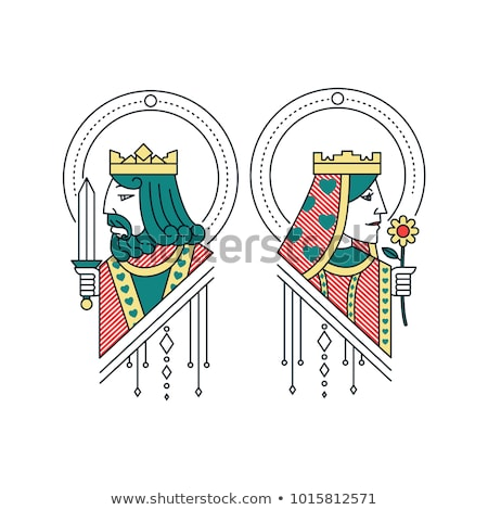 queen and king vector illustration stock photo © carodi