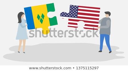 USA · święty · flagi · puzzle · wektora · obraz - zdjęcia stock © istanbul2009