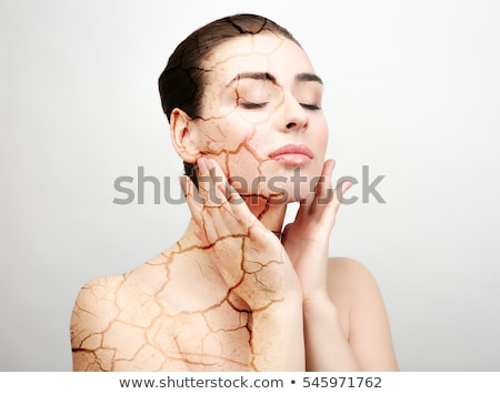 Double Exposure Woman Skin Moisturizer stock photo © Stephanie_Zieber