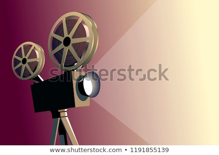 retro · film · projector · oude · films · show - stockfoto © loopall
