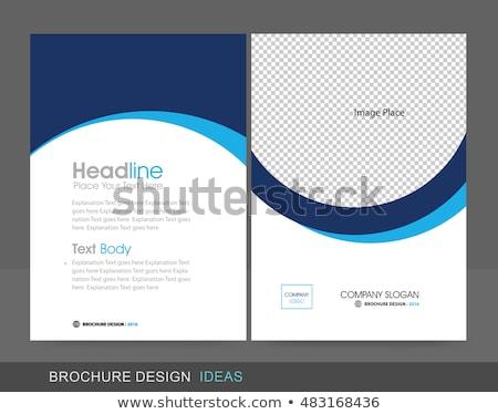 vector · abstract · Blauw · aquarel · ontwerp · textuur - stockfoto © helenstock