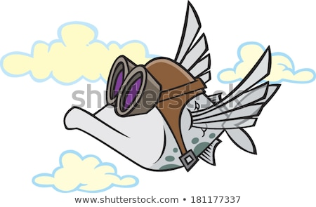 Flying Fish and Clouds Stock photo © xochicalco