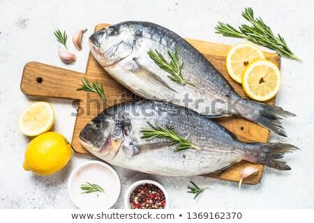 Stok fotoğraf: Pişirme · balık · otlar · baharatlar