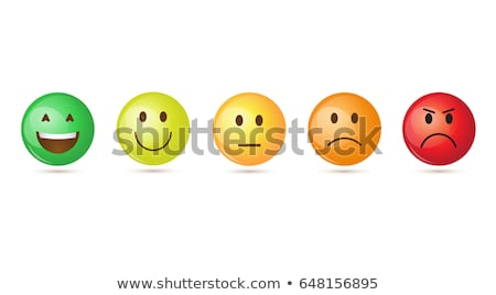 Vector graphic avatar and face icons in negative colors stock photo © feabornset