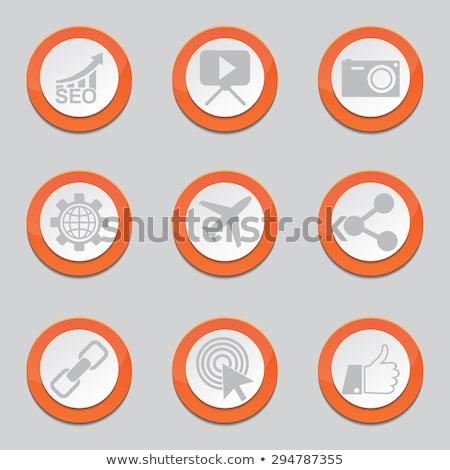 seo internet sign orange vector button icon design set 1 stock photo © rizwanali3d