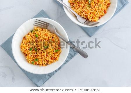 インスタント 麺 食品 背景 表 食べ ストックフォト © eddows_arunothai