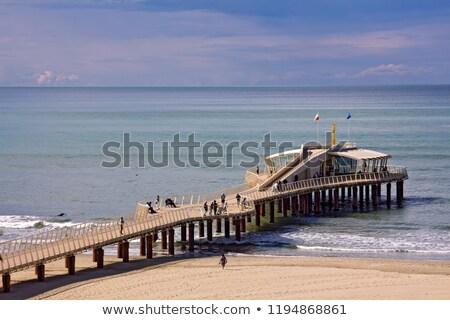 Pier ver toscana Itália praia construção Foto stock © Fotografiche