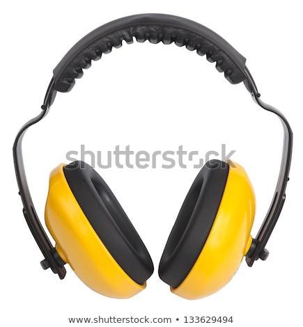 Proteção amarelo ouvido construção fones de ouvido soar Foto stock © chris2766