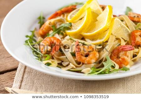 Pasta with rucola Stock photo © joker