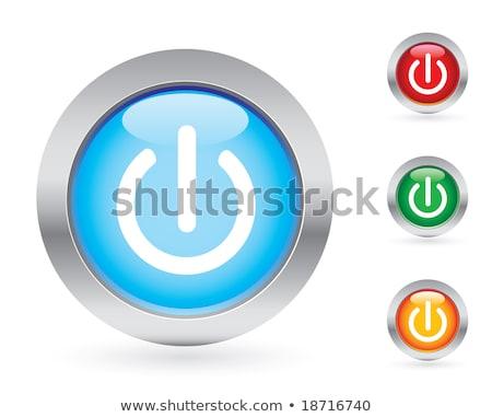 Power Circular Vector Red Web Icon Button Stock photo © rizwanali3d