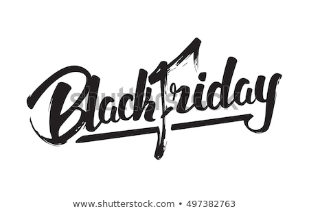 Black friday bannière vente texte rouge Photo stock © marinini