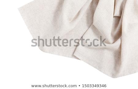 guardanapo · pequeno · dobrado · tecido - foto stock © Digifoodstock