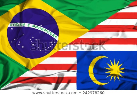 Brazil and Malaysia Flags Stock photo © Istanbul2009