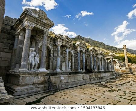 Türkiye eski şehir duvar taş mimari Stok fotoğraf © serdarduran