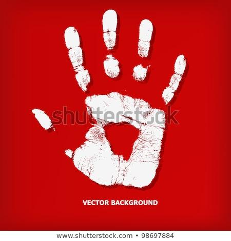 white handprint Stock photo © prill