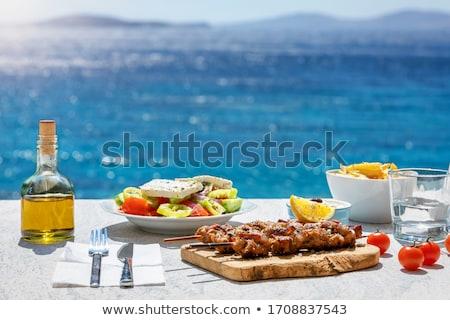 grego · restaurante · típico · Grécia · praia · casa - foto stock © deyangeorgiev