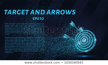 Archery Bow with Arrow Circle Icon Stock photo © Anna_leni