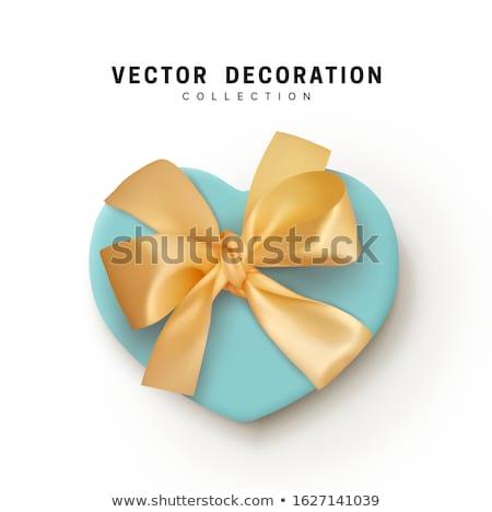 Heart tied ribbon. Heart shape gift for valentines day Stock photo © orensila