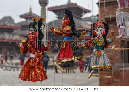 Marionett Nepál báb manipulált fölött drótok Stock fotó © bbbar