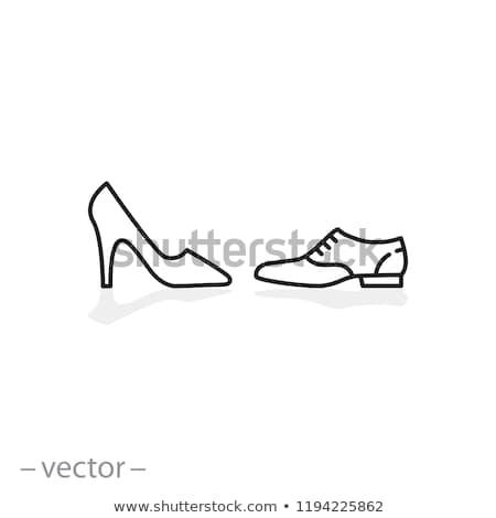 nyitva · lábujj · cipő · kép · női · kék - stock fotó © angelp