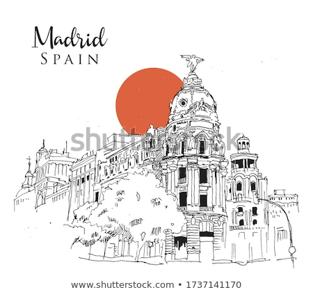 スペイン語 建物 古い 通り スペイン 空 ストックフォト © jrstock