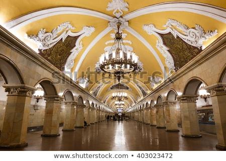 Stacja Moskwa metra publicznych metra wnętrza Zdjęcia stock © neirfy
